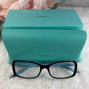 Tiffany & Co. Tortoise Blue Reading Glasses Womens